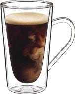 Luigi Bormioli Thermic Hot Drink Mug: Set of 2 Hot and Iced Coffee Drinking Mugs from Luigi Bormioli Glassware (11432/01)