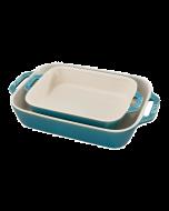 Staub 2pc Rectangular Baking Dish Set (Rustic Turquoise) (40511-924)