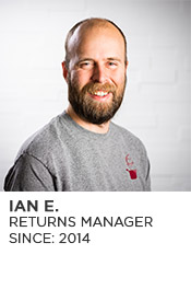 Ian E., Returns Manager, Since 2014