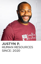 Justyn P., Human Resources, Since 2020