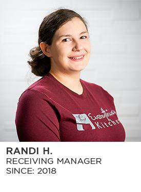 Randi H., Receiving Manger, Since 2018