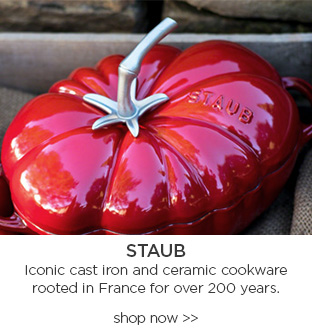 Staub Iconic Cast Iron and ceramic Cookware rooted in france for over 200 years. shop now