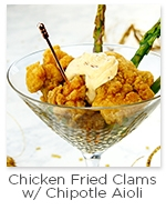 Chicken Fried Clams with Chipotle Aioli