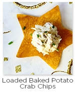 Loaded Baked Potato Crab Chips