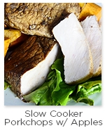 Slow Cooker PorkChops with Apples & Sweet Potatoes