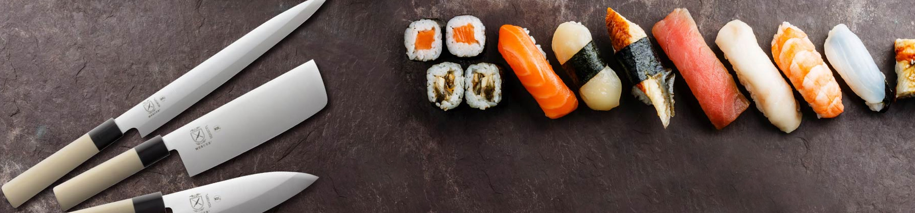 Photo of Asian Cuisine and sushi tools.