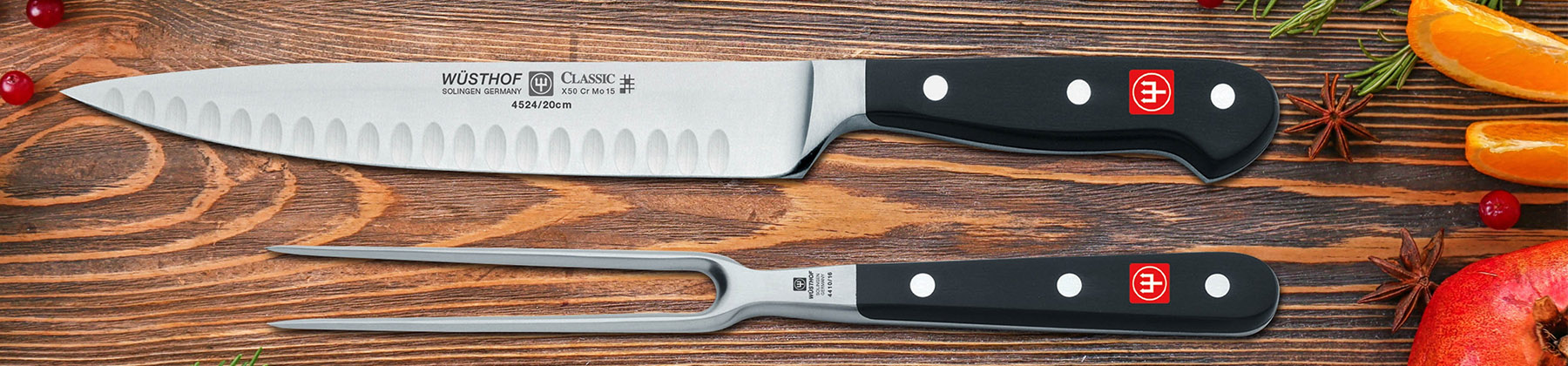 Photo of carving knife sets.