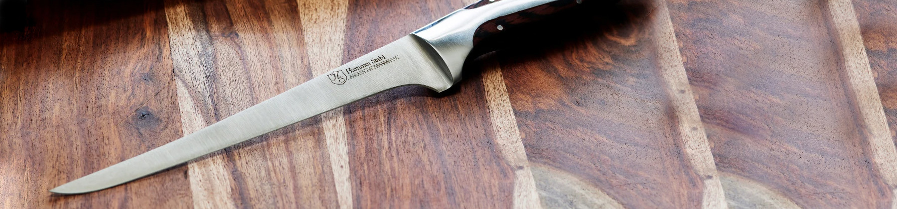Photo of cleaver and boning knife.