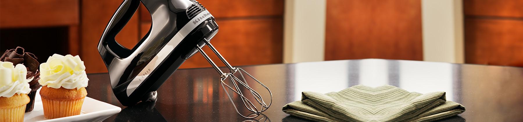 Photo of hand mixers.