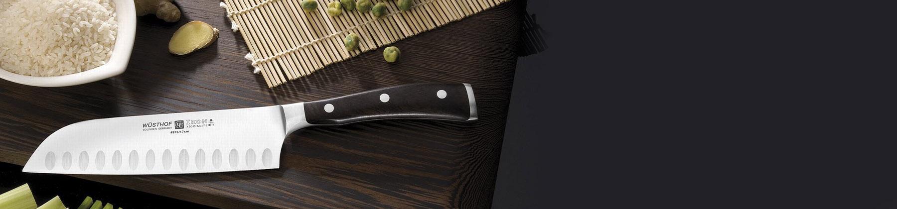 Photo of japanese knives.