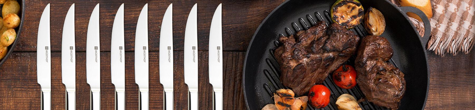 Photo of steak knives.