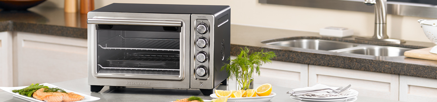 Photo of toaster oven.