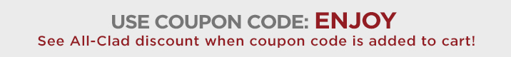 Use coupon code ENJOY. See discount when coupon is applied in cart.